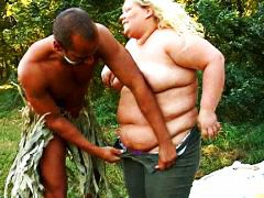 interracial, fat, woman, gets, blonde, fucked