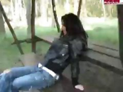 forest, blowjob, busty, hardcore, outdoor, brunette, sex, lick, oral, sucking