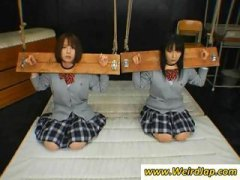 humiliation, asian, punished, schoolgirls, fetish, bondage, gets, torture, bdsm, japanese