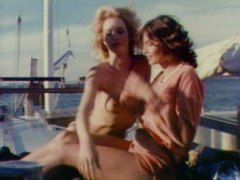 yacht, on, retro, group, facials, groupsex, blonde, vintage