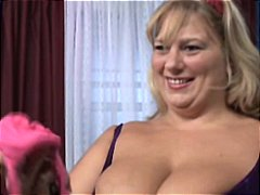 busty, pussy, gets, shaved, creampie, mature, big tits, big, cock, blonde