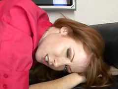 Nikki Rhodes, cum swallowing, redhead, evelyn rhodes, nikki rhodes, facial, pov point of view