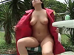 amateur, brunette, outdoor, shaved, babe, skinny, pissing, public, piss, big-boobs