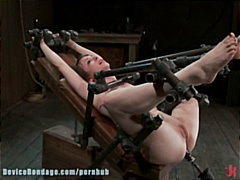 bdsm, dildo, tied, devices, bondage, gagged, bound, brunettes, restrained, sadism