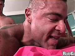 shaved, bear, huge dick, muscule, oil, massage, huge cock, big dick, blowjob, hand job