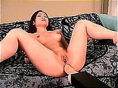big, machine, dildo, masturbation, asian