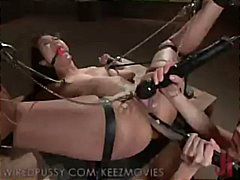 camel-toe, corset, feet, wiredpussy.com, gag-ball, fetish, tied, whip, vibrator, lesbian
