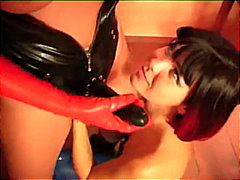 toys, lesbian, strap-on, ass-licking, pussy-licking, latex, fetish, fingering, dildo