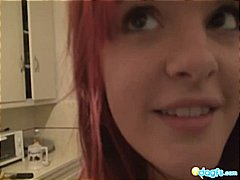 girlfriend, home made, kitchen, emo, tattoo, redhead, amateur, piercing