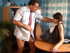 hardcore, doggystyle, petite, cute, hairy, teacher, small tits, blowjob, old young, pigtails