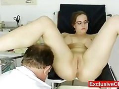 gyno, exclusiveclub.com, kinky, doctor, glasses, gaping, babes, chubby, cervix, medical
