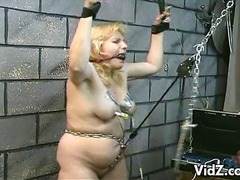bbw, slave, bondage, clamp, chained, bdsm, gagged