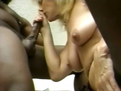 interracia, stockings, mature, sucking, blonde