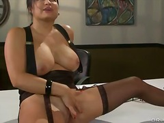 nice, milf, fake, stockings, mature, perfect, natural, work, pussy, office
