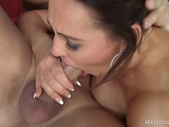 mature, couple, hardcore, boobs, oral, cougar, brunette, milf, blowjob