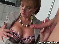 mature, handjob, big, boobs, cumshot, oral