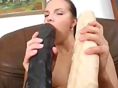 toys, sextoys, insertion, dildo, solo, masturbation, brunette, kinky