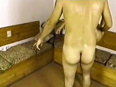 guy, fucking, handjob, bareback, masturbation, big ass, penis, doggy-style, behind, penetration
