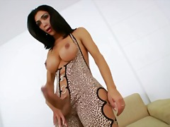 shemale, ejaculation, big, penis, jerking, big cock, tits, strip, small tits, nipples