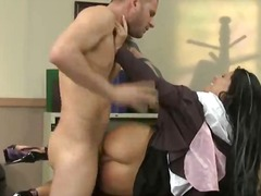 Madison Parker, milk, screaming, brunette, tits, beautiful, penetration, aggressive, nipples, standing, office