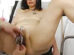 medical, fisting, cougar, vagina, mature, insertion, granny, finger, hairy, juicy