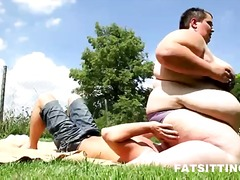 kinky, outdoors, massage, cameltoe, oil, face, rubbing, glasses, cfnm, pissing