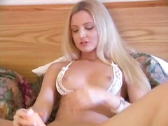 pleasure, rubbing, babe, jill, natural, wet, shaved, pussy, tits, toys