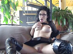 webcam, leather, solo