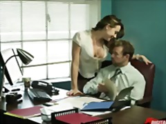 brunette, office, skirt, big ass, uniform, orgasm, secretary, squirting, work, oral