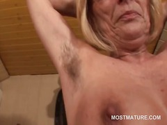 blonde, mature, masturbation, older, mom, granny, milf