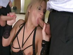 big boobs, tits, threesome, colette w., double, penetration, big